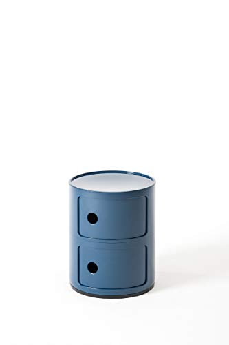 Kartell Componibili, 2 Elements, Blau, Runde Basis