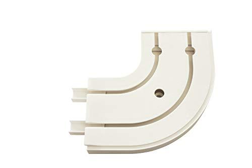 Gardinia Rundbogen GE2 mit Endstück weiß 13,5/13,5 cm, 1 Paar, 13.5/13.5 cm, 2