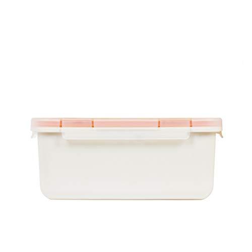 Valira Porta alimentos - Contenedor hermético de 1 L hecho en España, color blanco