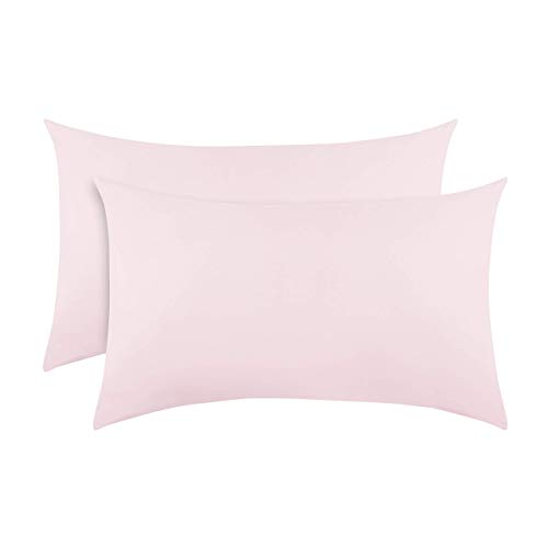 """Everyday Kids 2-Pack Toddler Travel Pillowcases -100% Soft Breathable Microfiber - 14"""" by 20"""" Kids Pillowcases fits Pillows 14x19, 13x18 or 12x16, Solid Pink."""