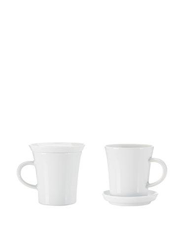 Kahla Kaffeetasse 4 TLG. Set Update weiß