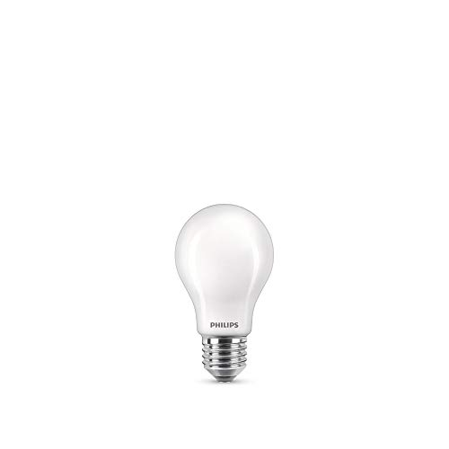 Philips LED Classic Bombilla, 60 W, Estándar A60 E27, Mate, Luz Blanca Fría, No Regulable, Pack de 3 Unidades