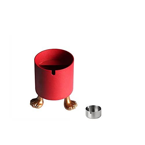 灰皿金属灰皿シンプルで多機能な飛散防止灰皿、携帯灰皿 大容量 屋内および屋外一般的な実用的灰皿 で機能的なファッション+ポータブル防風・落下防止小型灰皿