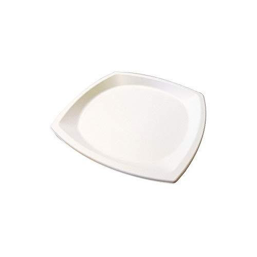Assiette carree ø 25 cm pulpe x25-25 pièces