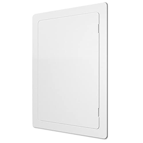 Access Panel for Drywall - 4 x 6 inch - Wall Hole Cover - Access Door - Plumbing Access Panel for Drywall - Heavy Durable Plastic White