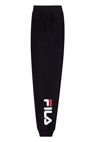 Fila Boys Heritage Fleece Jogger Logo Sweatpant (Black, X-Large)