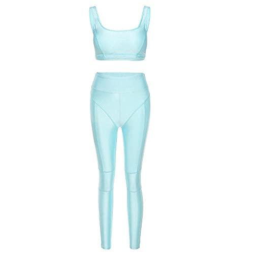 qqff Leggings Sexis Anticelulíticos,Traje Yoga Ajustado para Mujer,Ropa Deportiva Azul Baile,S,Yoga Running Fitness Gran Elásticos