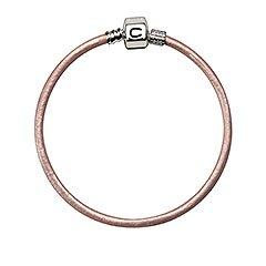 Authentic Chamilia Pink Champagne Metallic Leather Bracelet MLP-3