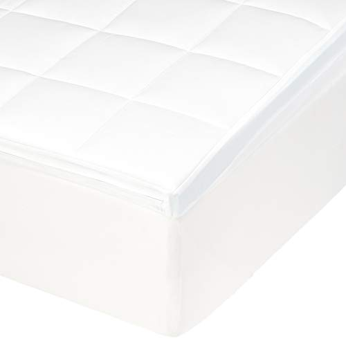 Amazon Basics - Cubrecolchón de espuma con memoria, 90 x 200 x 5 cm