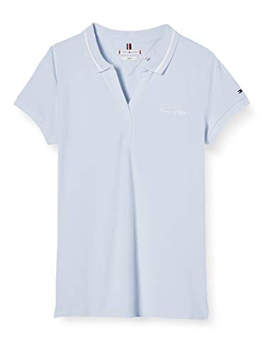 Tommy Hilfiger Bonny Slim Polo SS Camisa, Azul (Bliss Blue), XXX-Large para Mujer