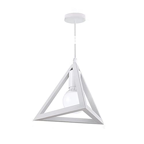 WM home Geometría Retro Colgante Ligero triángulo Colgante lámpara Colgante contemporáneo Colgante Industrial luz rústico luz para Comedor Bar cafetería (Color : E)