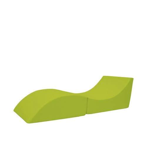 13Casa - Cleo A8 - Pouff chaise longue trasformabile. Dim: 50x70x50 h cm. Col: Verde. Mat: Ecopelle.