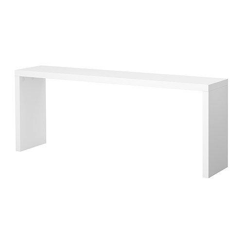 IKEA MALM - Mesa auxiliar, blanco - 191x74 cm: Amazon.es: Hogar