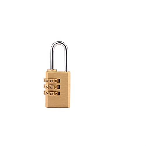 HYMD El candado es Adecuado para la Maleta de la habitación Travel Mini Security Tool de 4 dígitos Bloqueo de latón (Color : Gold, Size : 53 * 25 MM)