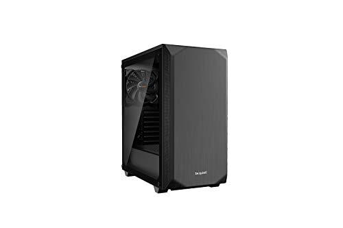 BEQAB be Quiet! Pure Base 500 PC-Gehäuse aus Hartglas, Schwarz, Fenster schwarz, BGW34