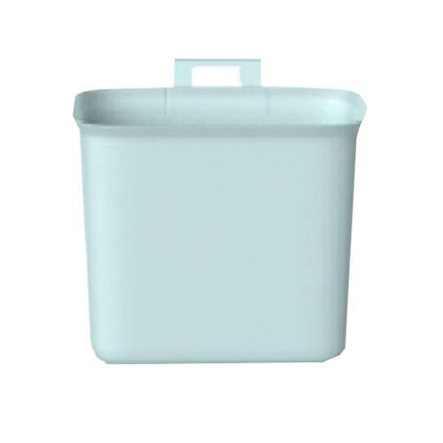 Keukenkast deur hangende prullenbak Vuilnisbakken Small & Portable vuilnisbakken Desktop prullenbak Badkamer papiermand (Color : Blue)