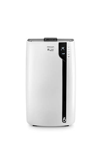 De\'Longhi Pinguino PAC EX100 Silent mobiles Klimagerät mit Abluftschlauch, Klimaanlage für Räume bis 110 m³, Luftentfeuchter, Ventilationsfunktion, 24h-Timer, weiß