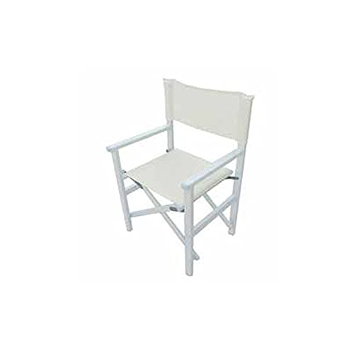 CASA COLLECTION - Silla de oficina plegable de aluminio y textileno blanco...