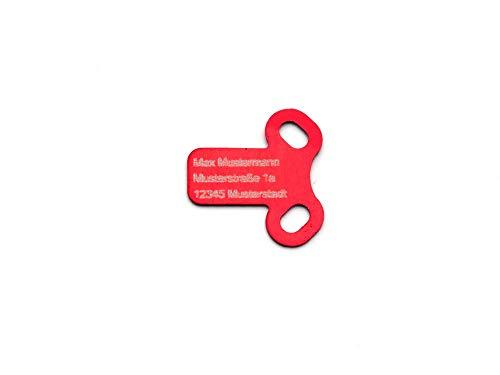 CopterFarm Copter – Placa identificativa, versión T, 1 Pieza, 4 Unidades, Azul, Rojo. Verde, dron de Oro FPV Racer, Copter.
