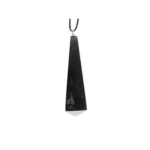 Colgante Pendulo Shungit Minerales y Cristales para Curación, Belleza