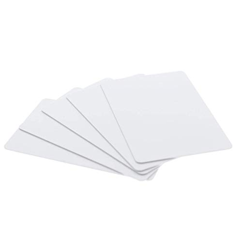 200 Pack - Premium Blank PVC Cards for ID Badge Printers - Graphic Quality White Plastic CR80 30 Mil (CR8030) by Specialist ID - Compatible with Most Photo ID Badge Printers (White)