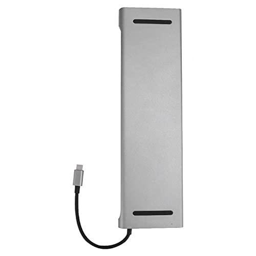 Tomanbery Estación de Acoplamiento USB, tamaño pequeño, Buen Rendimiento, concentrador Tipo C, portátil Multifuncional, Compacto para Laptop, Notebook