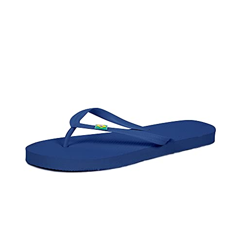 CoboFamily Chanclas Hombre Adulto, Zapatos de Playa y Piscina, Flip Flop Verano Otoño Invierno, Chancletas Multicolor, Suela de Goma Antideslizante (Azulón, 40)