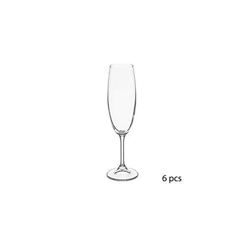 Lot de 6 flûtes à champagne - 22 cl - Tana - Cristallin