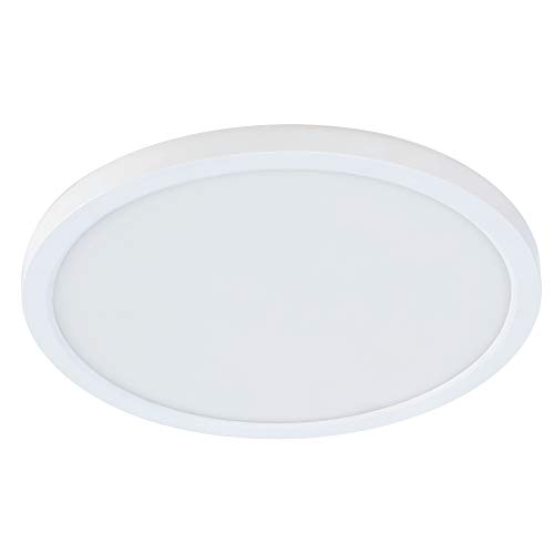 Feit Electric 74202/CA Round, Edge-Lit, Color Selectable 3 in 1 (Soft Bright White/Daylight) for Home, Office, Commercial LED Recessed Ceiling Flat Panel Light, 4