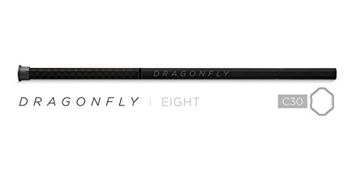 Epoch Lacrosse Dragonfly Eight, 30' Attack Lacrosse Shaft, Mid-Flex iQ5, Carbon Black