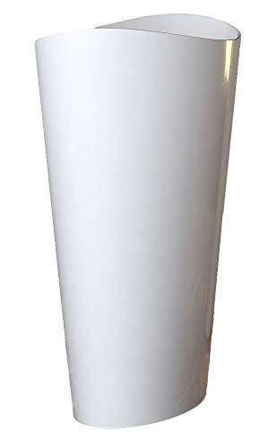 Bernstein Badshop Freistehendes Waschbecken aus Mineralguss WAVE PB2175 Standwaschbecken weiß - 60 x 37 x 90 cm - Solid Stone
