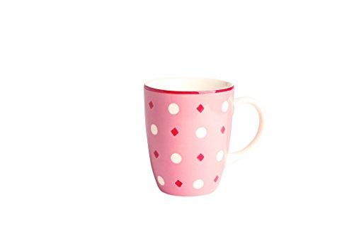 Déjeuner sur l'herbe DH043043 Grand Mug, Faïence, Rose, 8,2 x 8,2 x 10 cm
