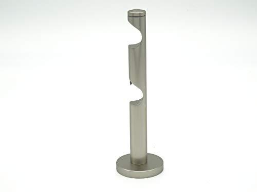 Doppel-Auflageträger edelstahloptik für Gardinenstangen mit 20mm Durchmesser