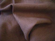 Leinen Stoff Meterware in BRAUN Kleiderstoff Dekostoff aus 100% LEINEN Leinenstoff