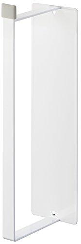山崎実業 マグネット洗濯ハンガー収納ラック S ホワイト 約W6XD8.5XH26cm プレート ハンガー収納 洗濯機横 3918