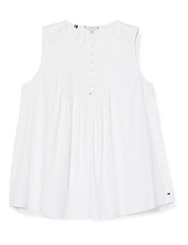 Tommy Hilfiger Reisa Top NS Camisa, Blanco (TH Optic White), 34 para Mujer