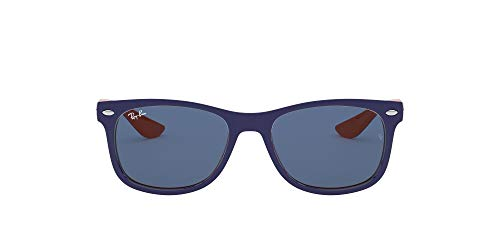 Ray-Ban JUNIOR New Wayfarer Junior Gafas de Sol, Top Azul/Naranja, 49 Unisex-Niño