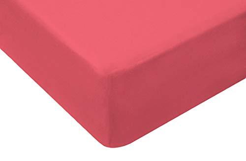 TM Maxx Jersey Spannbettlaken für Baby und Kinder mit Öko-Tex Standard (Korall 038, 90x160) Spannbetttuch aus 100{5795afdd2149d24b1baf6db624f9bf5c086f2df9589175281e4524361eee6e32} Baumwolle
