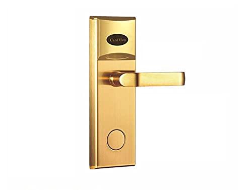 Tarjeta electrónica de la puerta de Lachco Tarjeta RFID Tarjeta eléctrica Lock sin llave para el hogar Pestillo de la sala de oficina con el cerrojo L16038SG-Empuje izquierdo