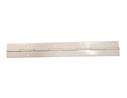 Moderix 10x 240mm Stangenscharnier Klavierband Stangen Schanier Weiß