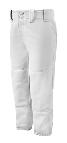 Mizuno Womens Belted Pant (White, Medium)