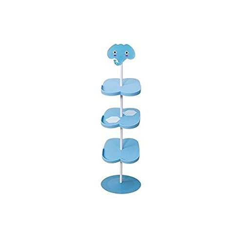 shengmo Zapatero para niños vertical de aterrizaje simple, combinación de plástico, creativo, antideslizante, giro libre (color : D7 4)