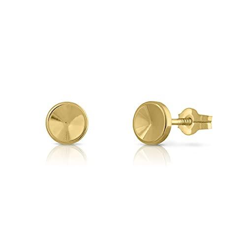 Pendientes Oro de Ley Certificado/Niña/Mujer. Cierre de presión. Medida 6 mm. (1-4057)