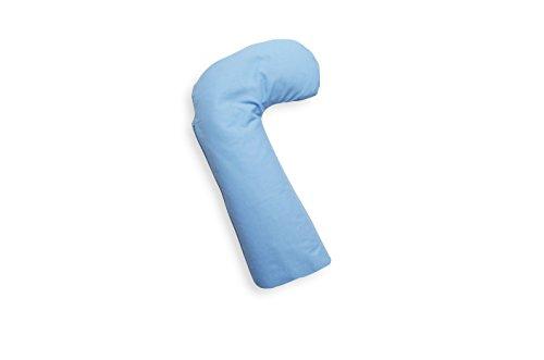 Ideenreich 2213 bébé Coussin de positionnement en forme de L, 65 x 20 cm, bleu clair