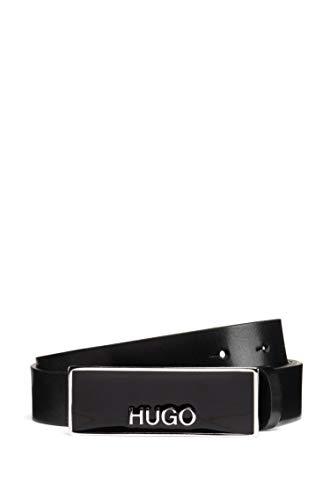 HUGO Damen Karol Belt 2,5 cm Gürtel, Schwarz (Black1), 90