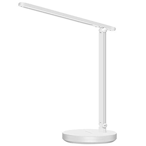 Desk Lamps Lámpara de Escritorio Led con Puerto de Carga USB, Lámpara de Escritorio para El Cuidado de Los Ojos Sin Parpadeo, 3 Modos de Brillo y 3 de Color, para Oficina Estudio, Niños, 7w