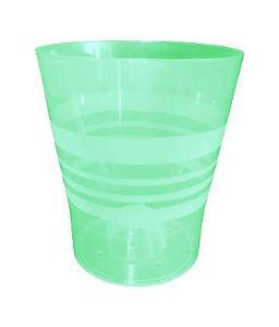 Plastkon Décoration Pot Orchidée Diamètre 13 cm Vert