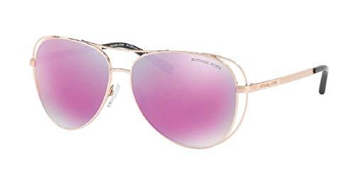 Michael Kors MK1024 LAI Aviator Gafas de sol para mujer+Kit de cuidado gratuito de gafas