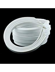 50PCS Amersumer 1/2' Girls Plain No Teeth DIY Plastic Headbands Headwear Hair Accessories (Black) (WHITE)