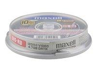 Maxell 275896–Pack di 10DVD-RW vergini di 4.7GB, 2x